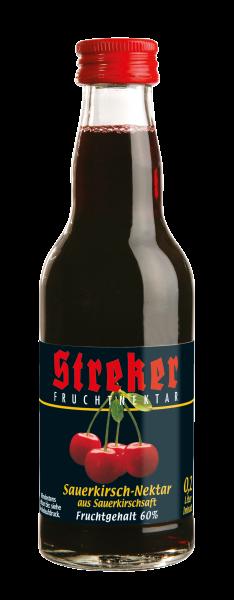 Streker Sauerkirsch-Nektar 12x0,2 l