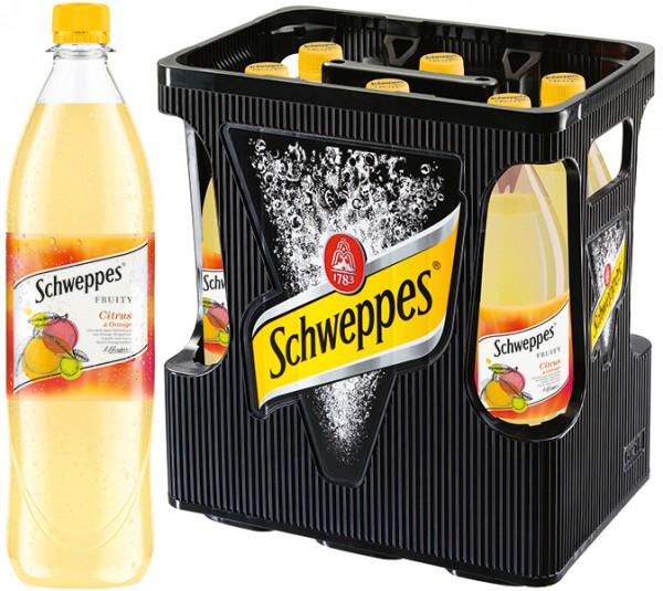 Schweppes Fruity Herb-Süss Citrus & Orange 6x1,0 l