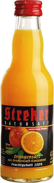 Streker Orangensaft pur 12x0,2 l