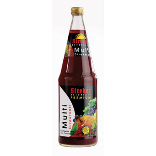 Streker Multi-Vitamin-Mehrfruchtsaft Direktsaft rot 6x1,0 l