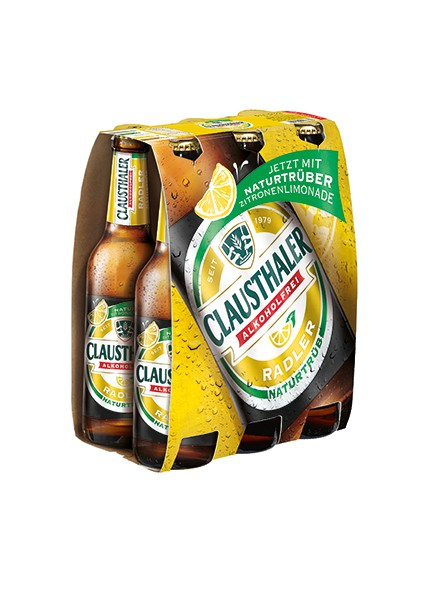 Clausthaler Alkoholfrei Radler naturtrüb 6x0,33 l