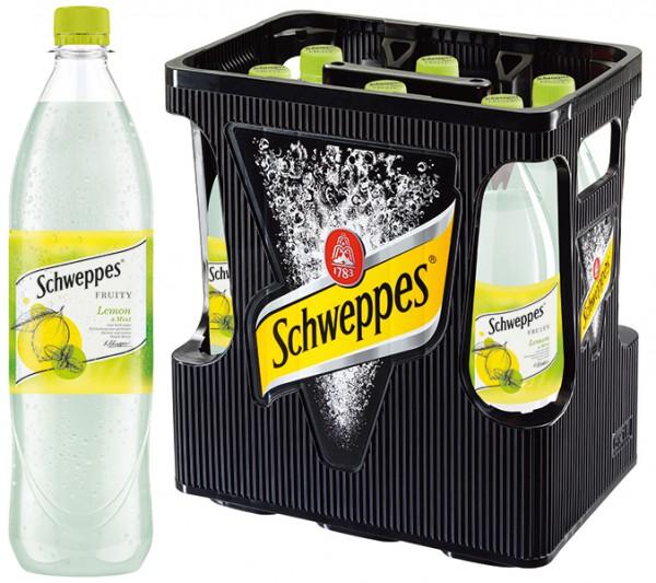 Schweppes Fruity Lemon & Mint 6x1,0 l