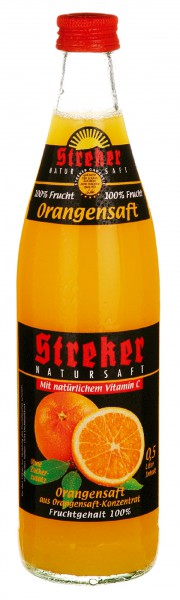 Streker Orangensaft aus Konzentrat 10x0,5 l