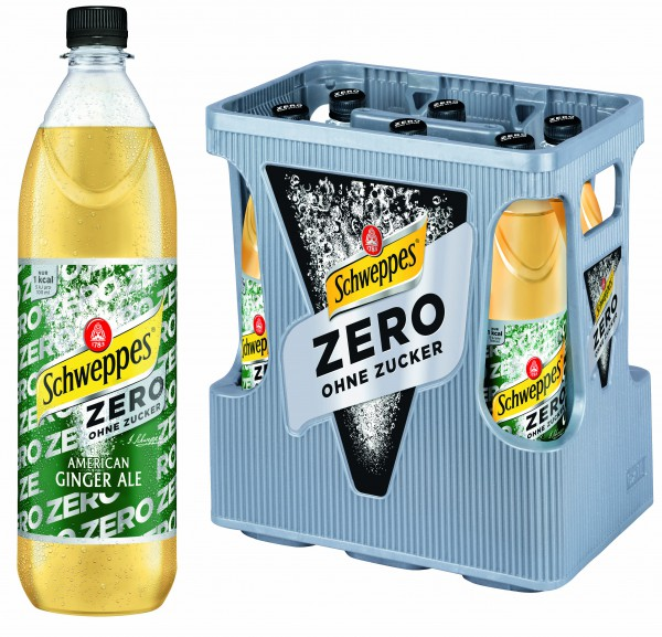 Schweppes Zero American Ginger Ale 6x1,0 l