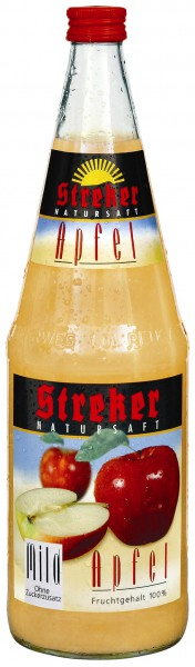 Streker Apfelsaft Mild 6x1,0 l