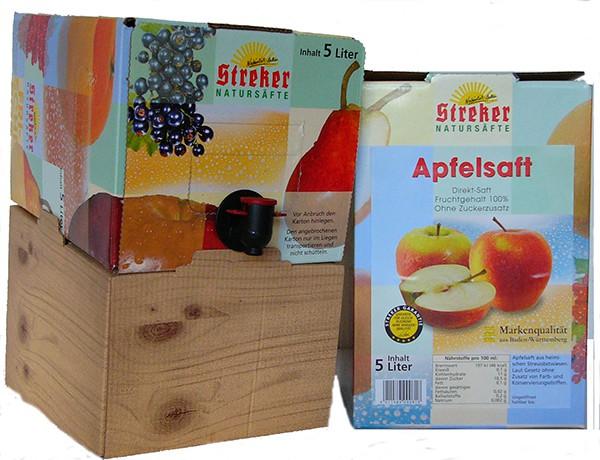 Streker Bag in Box Apfelsaft trüb 5,0 l