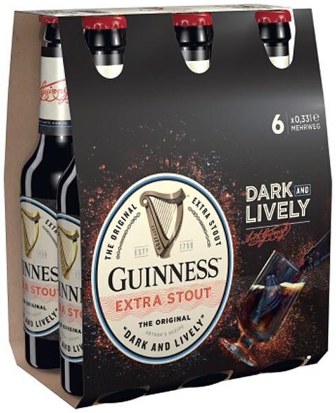 Guinness Dark Lively Guinness Extra Stout 6x0.33 l