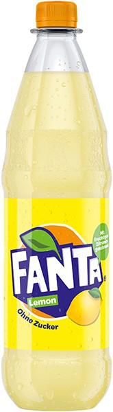 Fanta Lemon ohne Zucker 12x1 l
