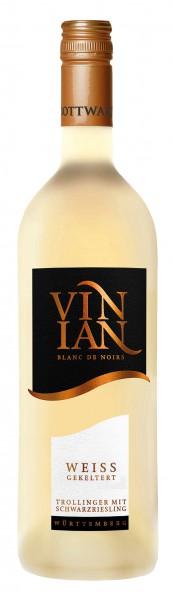 Bottwartaler Vinian Ta Blanc de Noir weiss gekeltert Trollinger mit Schwarzriesling 0.75 l