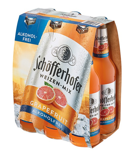 Schöfferhofer Grapefruit Alkoholfrei 6er Pack 6x0,33 l
