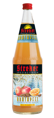 Streker Bratapfel Punsch alkoholfrei 1,0 l