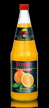 Streker Orangensaft pur 6x1,0 l
