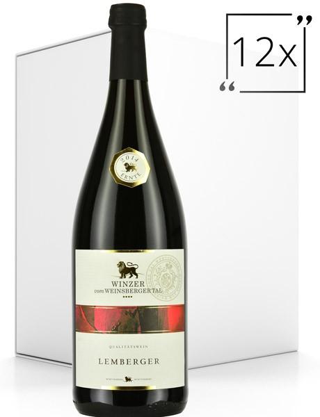 Winzer vom Weinsberger Tal Qualitätswein Lemberger 12x1.0 l