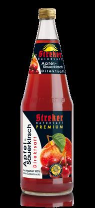 Streker Apfel-Sauerkirsch Direktsaft 6x1,0 l